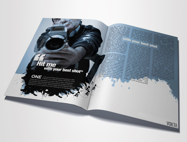Hit Me With Your Best Shot – Magazine Layout